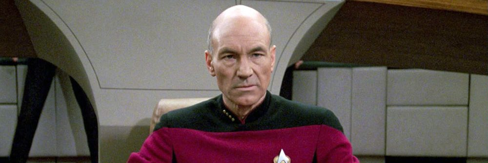 Captain Picard on the bridge